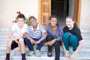 Ethan, Habtamu, Helen and Faith
