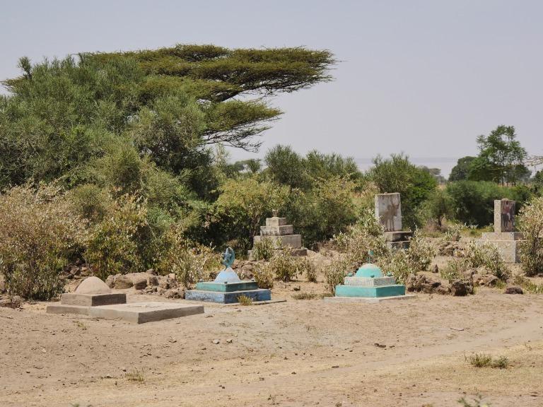 Muslim cemetery, roadside Lake Langano